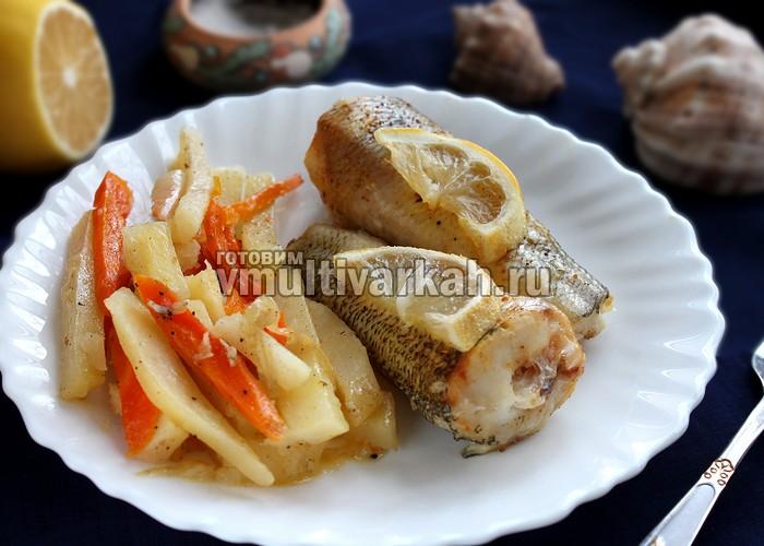 Рыба запеченная с овощами в мультиварке